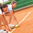 Female tennis competition — Stock Photo