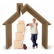 House moving — Stock Photo