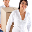 Couple moving house — Stock Photo #8832110