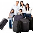 Family with bags — Foto de Stock