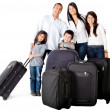 Family with bags — Stockfoto