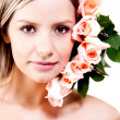 Woman with roses — Stock Photo #8832190