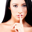 Keep quiet — Stock Photo