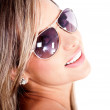 Stock Photo: Woman with sunglasses