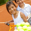 Young tennis players — Stock Photo #8832278