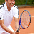 Mplaying tennis — Stock Photo #8832284