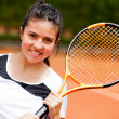 Girl playing tennis — Stock Photo #8832322
