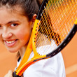 Female tennis player — Stock Photo #8832340