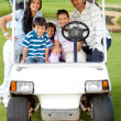 Family playing golf — Stock Photo #8832441