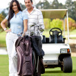 Couple playing golf — Stock Photo #8832465