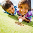 Kids enjoying golf — Stock Photo