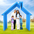Family buying a house — Foto Stock