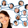 Social network — Stock Photo #8832579