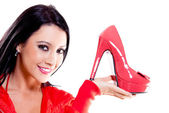 Woman with high-heels — Stock Photo