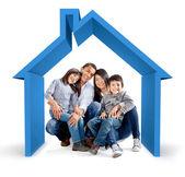 Familjens hus — Stockfoto