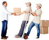 Delivery services — Stock Photo