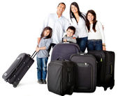 Family with bags — Stock Photo