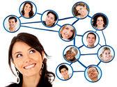 социальная сеть — Стоковое фото