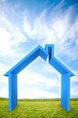3D house illustration outdoors — Stock Photo