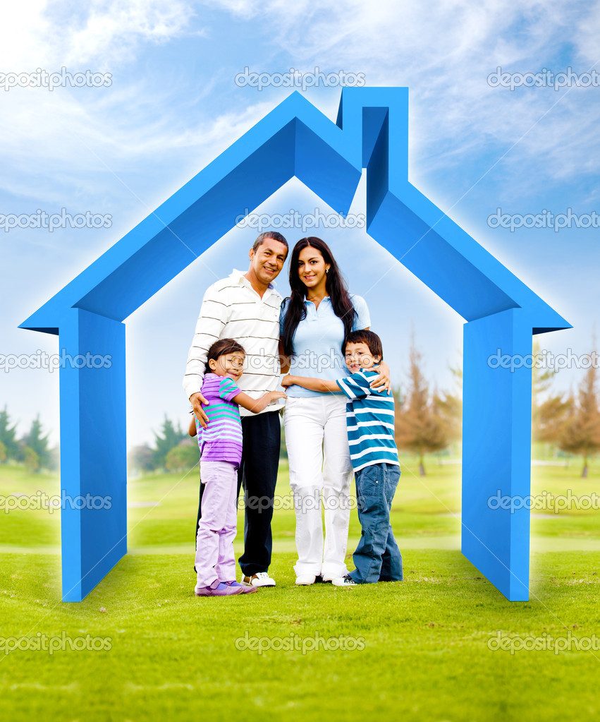 Comprar una casa de familia foto de stock andresr 8832574 for A family house