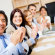 Foto Stock: Business team applauding