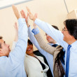 Stock Photo: Business high-five