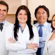 Foto de Stock  : Corporate team at hospital
