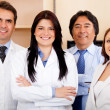 Corporate team at the hospital — Stock Photo