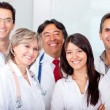 Patient with a group of doctors — Stock Photo #8849511
