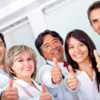 Doctors with thumbs up - Stock Photo