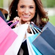Stock Photo: Beautiful womshopping