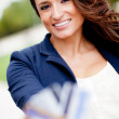 Woman with credit cards - Stock Photo
