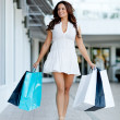 Girl out shopping — Stock Photo #8849627