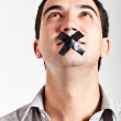 Silenced man - Stock Photo