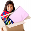 Stock Photo: Girl moving house