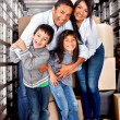 Family moving house — Foto Stock