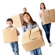 Family moving home — Stockfoto