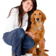 Girl with a dog — Stock Photo #8849806