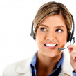 Stock Photo: Telemarketing agent