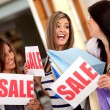 Women on shopping sale — Stock Photo