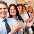Royalty-Free Stock Photo: Business group applauding