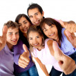 Group with thumbs-up — Stock Photo #8849983