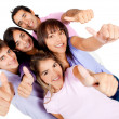 Young with thumbs-up — Stock Photo