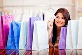 女人购物销售 — 图库照片