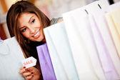 Shopping på försäljning — Stockfoto