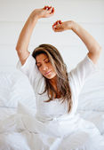 Woman waking up — Stock Photo
