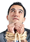 Tortured business man — Stock Photo
