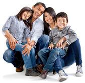 Schattenwurf-familie — Stockfoto