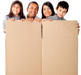 Family packing — Stock Photo