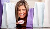 販売上の女性 — ストック写真